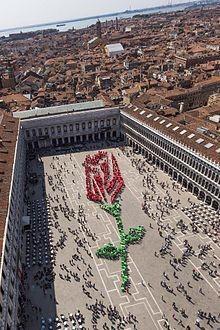 День святого Марка и красная роза в подарок