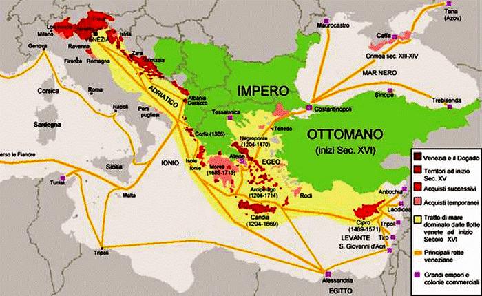 Карта респубкики Венеция